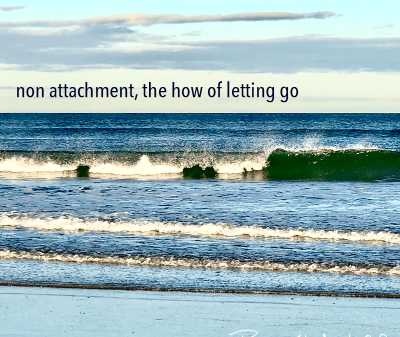 Nonattachment, the how of letting go